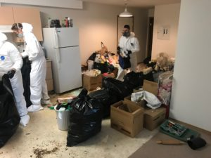 WFTS Staff cleaning up a contaminated unit